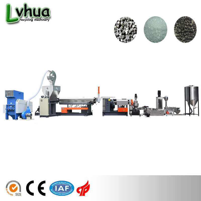 PP PE Soft Film Plastic Recycling Equipment 45KW Special Screw Design